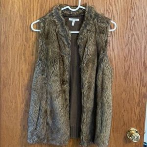 Maurices faux brown fur vest